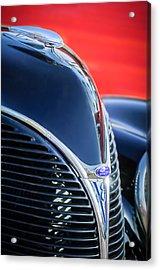 1938 Ford Hood Ornament - Grille Emblem -0089c Acrylic Print by Jill Reger