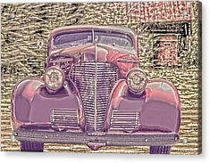 1939 Chevy Immenent Front Color Acrylic Print by Lesa Fine