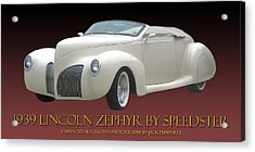 1939 Lincoln Zephyr Poster Acrylic Print by Jack Pumphrey