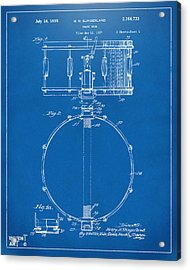 1939 Snare Drum Patent Blueprint Acrylic Print by Nikki Marie Smith