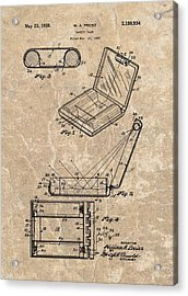 1939 Vanity Case Patent Acrylic Print by Dan Sproul