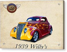 1939 Willy's Acrylic Print by Jim  Hatch