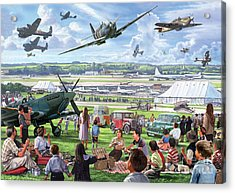 1940 Airshow Acrylic Print by Steve Crisp