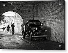 1940 Chevrolet Pickup Truck In Alcatraz Prison Acrylic Print by RicardMN Photography