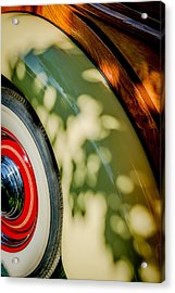 1940 International D-2 Station Wagon Wheel Acrylic Print by Jill Reger