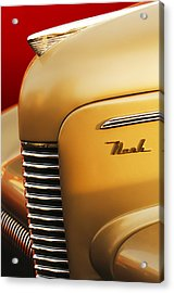 1940 Nash Sedan Grille Acrylic Print by Jill Reger