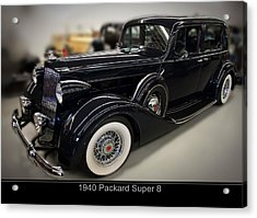 1940 Packard Super 8 Acrylic Print by Chris Flees