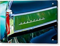 1941 Sudebaker Champion Coupe Emblem Acrylic Print by Jill Reger
