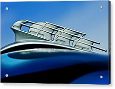 1946 Plymouth Hood Ornament Acrylic Print by Jill Reger