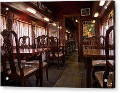 1947 Pullman Railroad Car Dining Room Acrylic Print by Thomas Woolworth