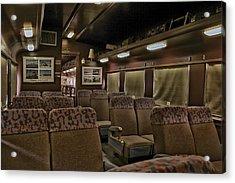 1947 Pullman Railroad Car Interior Seating Acrylic Print by Thomas Woolworth