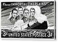 1948 Immortal Chaplains Stamp Acrylic Print by Historic Image