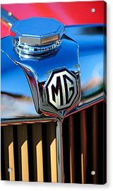 1948 Mg Tc Hood Ornament -767c Acrylic Print by Jill Reger