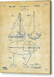 1948 Sailboat Patent Artwork - Vintage Acrylic Print by Nikki Marie Smith