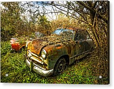 1949 Ford Acrylic Print by Debra and Dave Vanderlaan