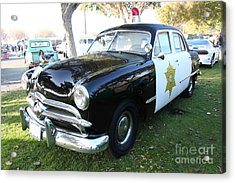 1949 Ford Police Car 5d26229 Acrylic Print by Wingsdomain Art and Photography
