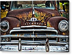 1949 Plymouth Acrylic Print by Thomas Kessler