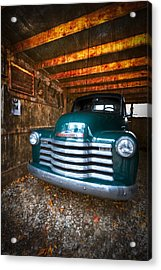 1950 Chevy Truck Acrylic Print by Debra and Dave Vanderlaan