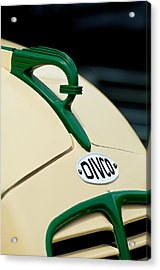 1950 Divco Milk Truck Hood Ornament Acrylic Print by Jill Reger