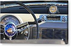 1950 Oldsmobile Rocket 88 Steering Wheel 3 Acrylic Print by Jill Reger