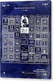 1950 Stock Market Game Patent Drawing Blue Acrylic Print by Jon Neidert