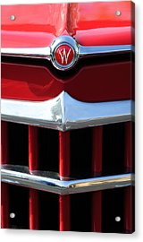 1950 Willys Overland Jeepster Hood Emblem Acrylic Print by Jill Reger