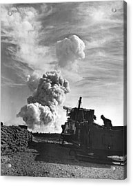 1950's Atomic Cannon Test Acrylic Print by Underwood Archives