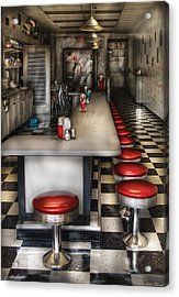 1950's - The Ice Cream Parlor  Acrylic Print by Mike Savad