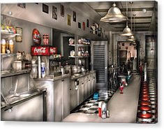 1950's - The Soda Fountain Acrylic Print by Mike Savad