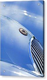 1951 Jaguar Grille Emblem Acrylic Print by Jill Reger