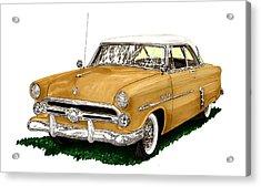 1952 Ford Victoria Acrylic Print by Jack Pumphrey