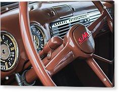 1952 Gmc Suburban Steering Wheel Emblem Acrylic Print by Jill Reger