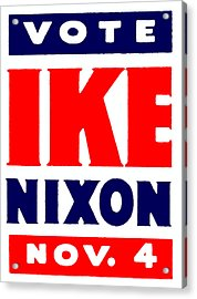 1952 Vote Ike And Nixon Acrylic Print by Historic Image