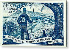 1953 Future Farmers Of America Postage Stamp Acrylic Print by David Patterson