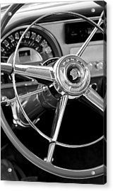 1953 Pontiac Steering Wheel 2 Acrylic Print by Jill Reger