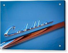 1954 Cadillac Emblem Acrylic Print by Jill Reger