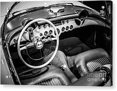 1954 Chevrolet Corvette Interior Acrylic Print by Paul Velgos