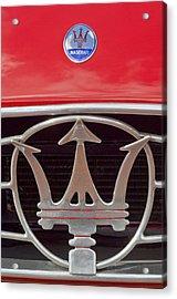 1954 Maserati A6 Gcs Emblem Acrylic Print by Jill Reger