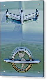 1954 Oldsmobile Super 88 Hood Ornament Acrylic Print by Jill Reger