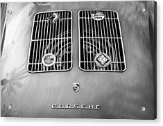 1954 Porsche Spyder Rear Emblem -0042bw Acrylic Print by Jill Reger