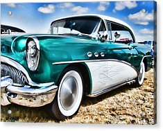 1955 Buick Acrylic Print by Ron Roberts