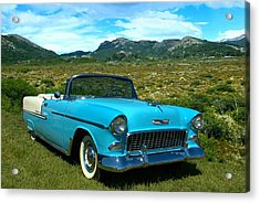 1955 Chevrolet Convertible Acrylic Print by Tim McCullough