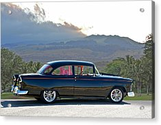 1955 Chevrolet Custom Coupe Acrylic Print by Dave Koontz