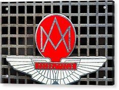1957 Aston Martin Owner's Club Emblem Acrylic Print by Jill Reger