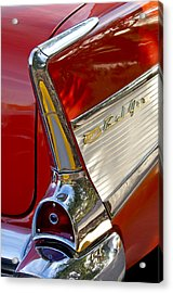 1957 Chevrolet Belair Taillight Acrylic Print by Jill Reger