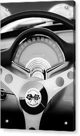 1957 Chevrolet Corvette Convertible Steering Wheel 2 Acrylic Print by Jill Reger