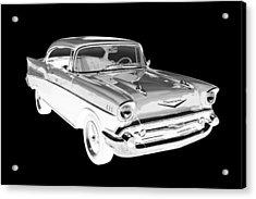 1957 Chevy Belair Car Art Acrylic Print by Keith Webber Jr