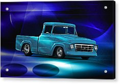 1957 Ford F100 Pick Up Acrylic Print by Dave Koontz