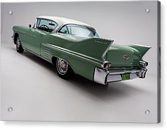 1958 Cadillac Deville Acrylic Print by Gianfranco Weiss