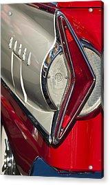 1958 Edsel Wagon Tail Light Acrylic Print by Jill Reger